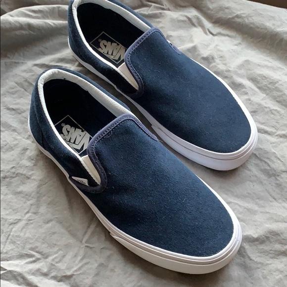 Vans Shoes | Navy Blue Suede Vans